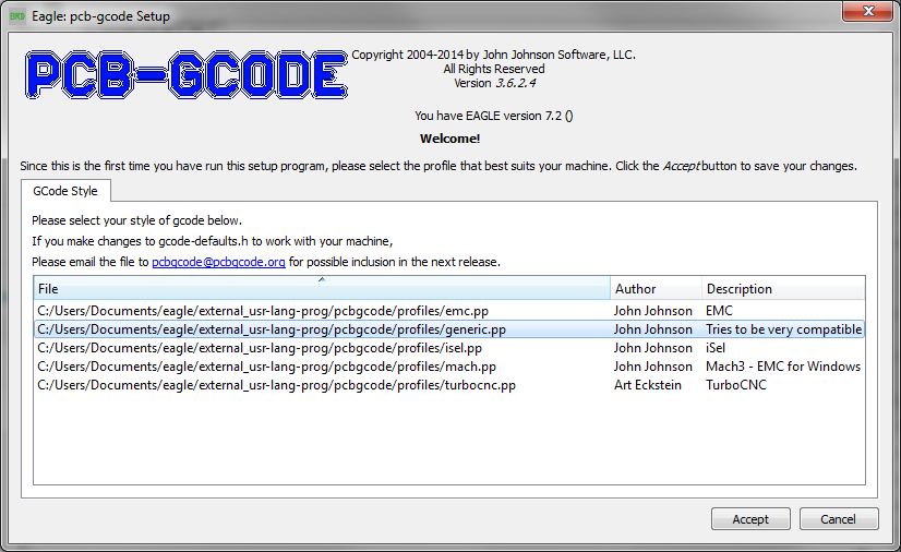 Create G-Code from an EAGLE File – Richard's Website