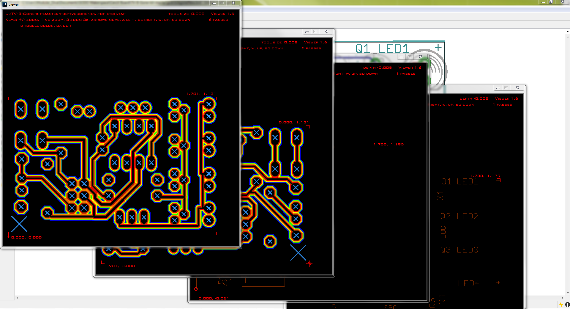 Create G Code From An Eagle File Richards Website Board Example Schematic This Is What It All Of The Previews Will Look Like For A Two Sided Pcb
